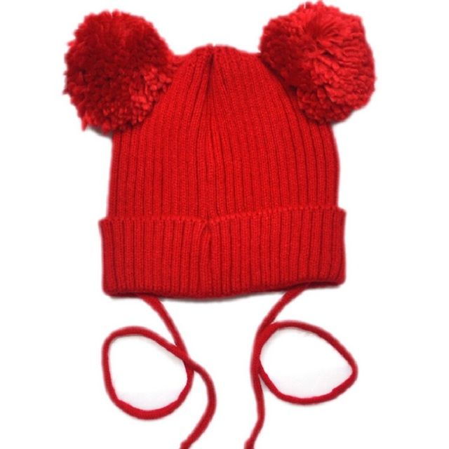 799dd0fa4c2 Bnaturalwell Toddler pom pom hat Knit baby toddler kids knit hats Girls hat  with pom toque beanie Mouse Ear Pom Hat 1pc H005