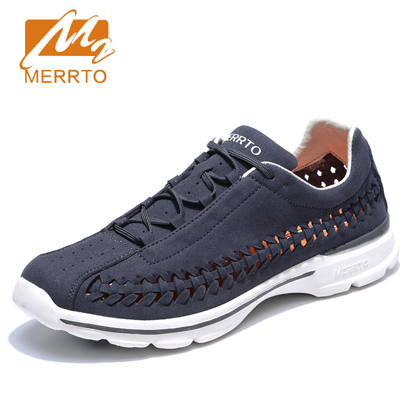 2018 Merrto Mens Outdoor Walking Shoes Light Weight Breathable Sports Shoes Mountaineering Shoes For Men Free Shipping MT18650 2018 merrto mens walking shoes breathable outdoor sports shoes for men color brown grey red khaki blue free shipping mt18623