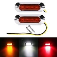 Urbanroad 10PCS Truck LED Side Marker Lights 12V 24V Car Truck Trailer Rear Lights For Caravan