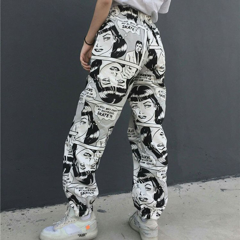 trousers European and American street hip-hop easy movement, men and women's trousers and pants leisure.