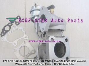 Envío Gratis CT9 Turbo 17201-64190, 17201-55030 turbocompresor para TOYOTA Starlet GT PASEO Tercel GLANZA EP82 EP91 EP85 4EFTE 2JZ-GT