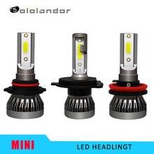 цена на 2PCS Car headlight Mini Lamp H7 LED Bulbs H4 LED H1 H8/H9/H11 Headlamp Kit 9005 HB3 9006 HB4 6000k Fog light LED Lamp 36W 6000LM