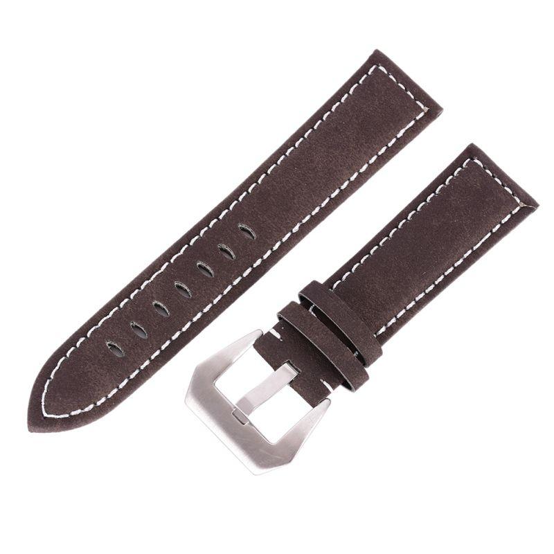 남자 시계 팔찌 결박 스테인리스 가죽 광택이없는 가죽 버클 시계 줄
