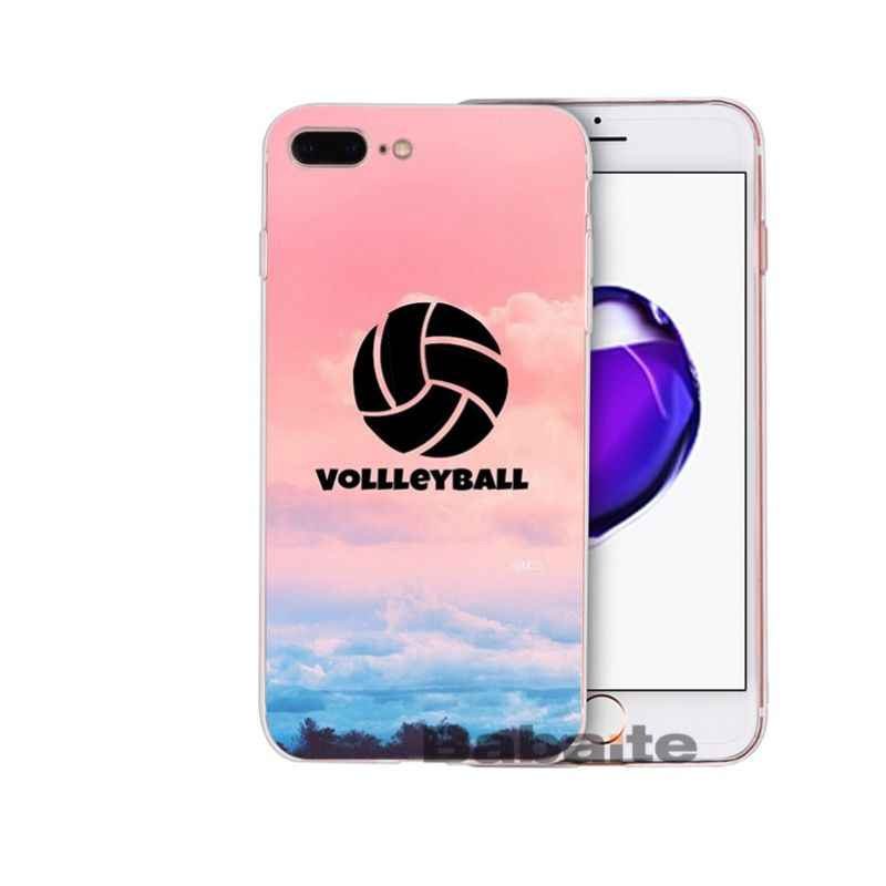 Babaite voleibol deportes DIY lujo Protector de alta gama para iPhone X XS MAX 6 6S 7 7 8 8 plus 5 5S XR