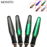 Motorcycle Turn Signals LED Lights Flowing Water Flicker Flashers lamp For GAS GAS EC 2T 4T FSE/FSR RR/RS HUSQVARNA TC125 TE125   -
