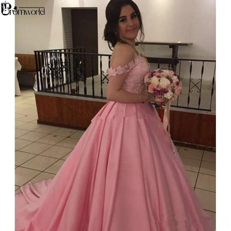 Vestido De Noiva 2019 Pink Plus Size Wedding Dress Ball Gown Sweetheart Lace Satin Corset Back Long Bridal Dress Wedding Gown