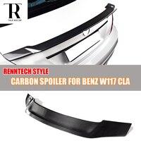 C117 W117 R Стиль углеродного волокна сзади Li крыло для Mercedes Бен ClA180 CLA200 CLA250 и CLA45 AMG 2013 2016