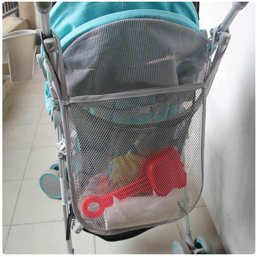 30*30 см детская коляска сетчатый мешок для хранения аксессуары черная тележка сетка Карманный для бутылок пеленки хранения Органайзер сумка держатель