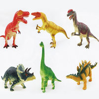 SUN & CLOUD 6 Pcs/set 3D Simulation Dinosaur Model Toys Sound Jurassic Animal Toys