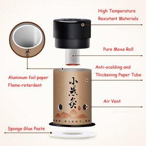 Image 2 - 공유 호 30pcs 미니 뜸쑥 스티커 뜸 롤 난방 치료 중국어 번체 뜸쑥 버너 따뜻한 자오선 Acupuntura