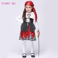 2017 Halloween Pirate Kostuums Meisjes Party Cosplay Kostuum voor Kinderen Kids Prestaties Kleding Anime Piraat Cosplay Outfits