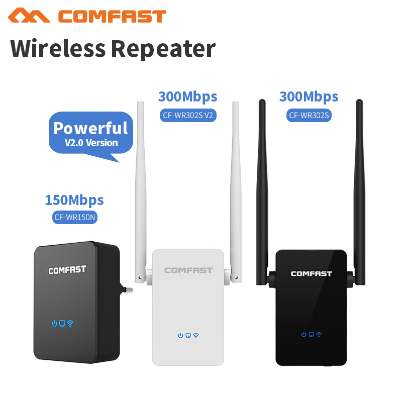 Comfast Poweful Wireless WIFI Repeater 150-300Mbps WiFi Signal Range Extender Wi Fi Signal Amplifier 802.11N/B/G Wi Fi Booster