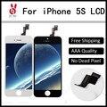 10 pçs/lote nenhum local um ++++ para iphone 5s lcd full montagem com Lente de Substituição Da Tela Pantalla Black White Livre DHL grátis