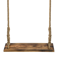 60X16X3CM Swinging Hanging Hammock Rocking Chair Indoor And Outdoor Rope Adult Children Preservative Carbonized Wood Swing