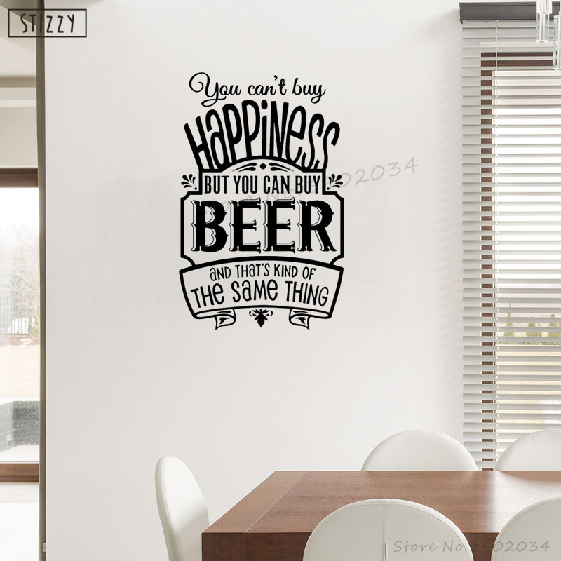 stizzy wall decal creative quotes you can buy beer wall sticker