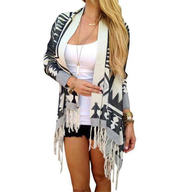 snowshine #4503  Womens Long Sleeve Knitted Cardigan Loose Sweater Outwear Coat Tops free shipping