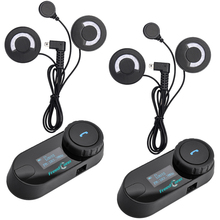 Ru наличии, 2 шт. FreedConn мотоциклетный шлем домофон TCOM-SC Moto Bluetooth переговорные гарнитуры с ЖК дисплей экран FM радио мягкий микрофон