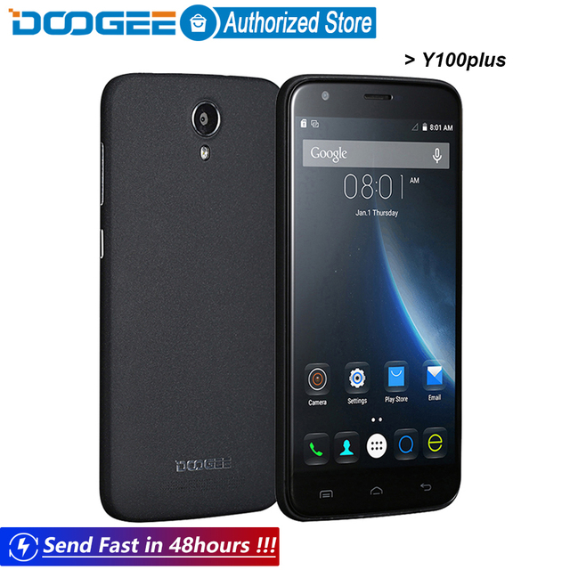 Doogee Y100 plus mobile phones 5.5Inch HD 2GB RAM+16GB ROM Android5.1 Dual SIM MTK6735 Quad Core 8.0MP 3000mAH GSM WCDMA LTE GPS