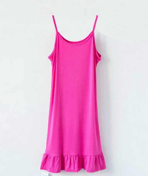 Clobee ספגטי רצועת שמלות ללא שרוולים קלע בתוך מוצק תחתון שמלת 2019 קיץ גדולה גודל נשים 6XL גדול גדלים בגדים