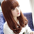1pcs Brown Short 18 inch Sexy Hair Products Synthetic Anime Wig Cosplay Hair Wigs None Lase Hair with Neat Bangs