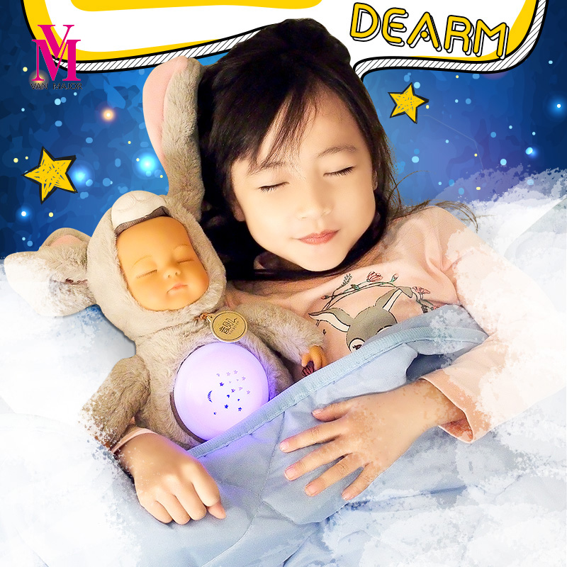 30cm Simulation Reborn Baby Appease Doll Sleeping Baby Plush Toy Educational Reading Story Doll Baby Kids Gift
