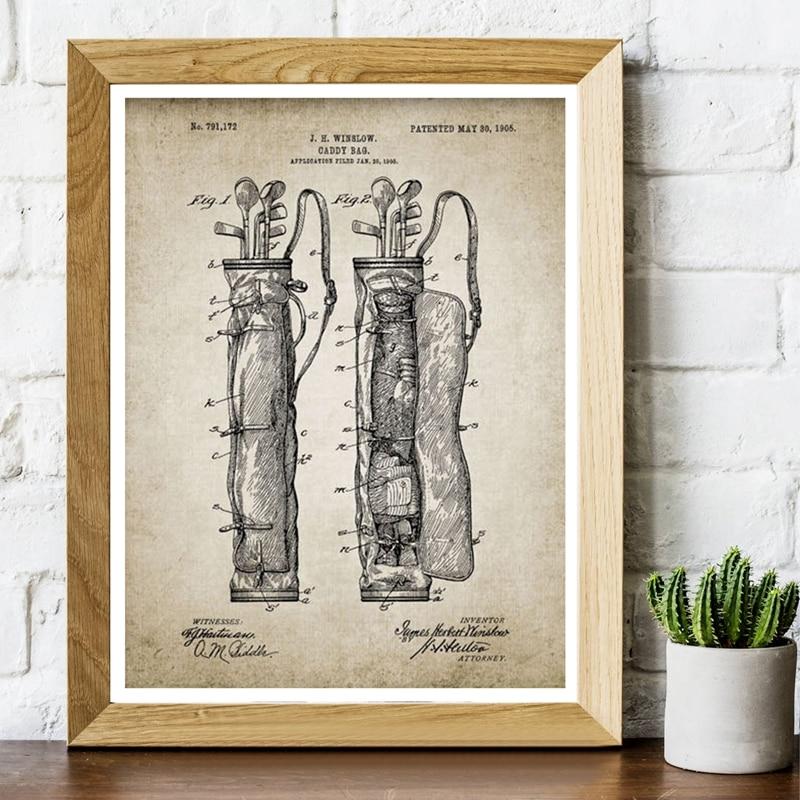 Vintage Golf Patent Canvas Art Prints