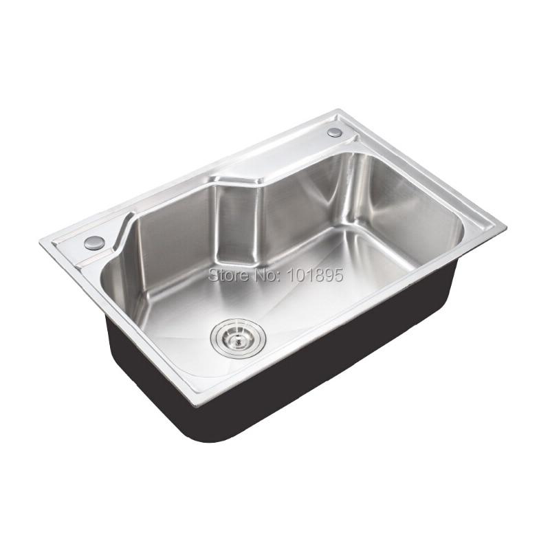 SUS304 bol simple en acier 750*500*230 MM évier de cuisine X26110 - 2