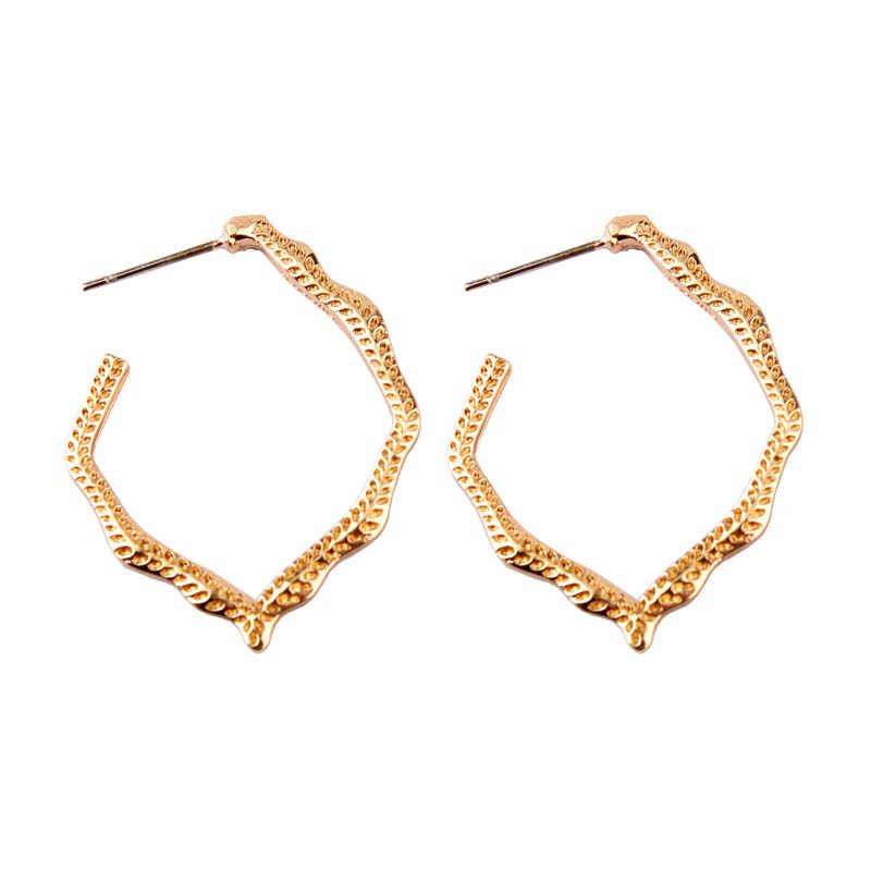 ZWPON 2019 Fashion Gold Classic Miku Statement Hoop Earrings for Women New Brand Designer Lightweight Dress Jewelry Wholesale