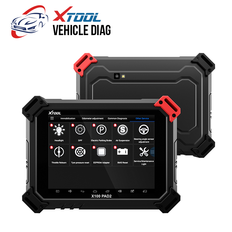 XTOOL X100 PAD2 OBDII Diagnostic Tool Full System Auto Key Programmer Free Update Car Key IMMO ABS//SRS//EPB//Oil Reset//SAS//DPF