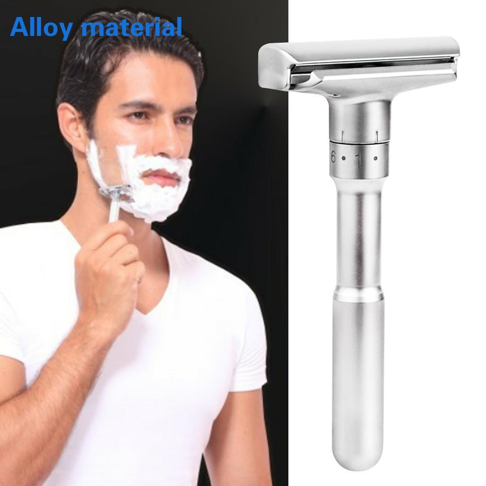 Men Razor Adjustable Safety Razor Double Edge Classic Mens Rotate Shaving Rzaor Face Underarm Body Hair Remover Shaving Machine