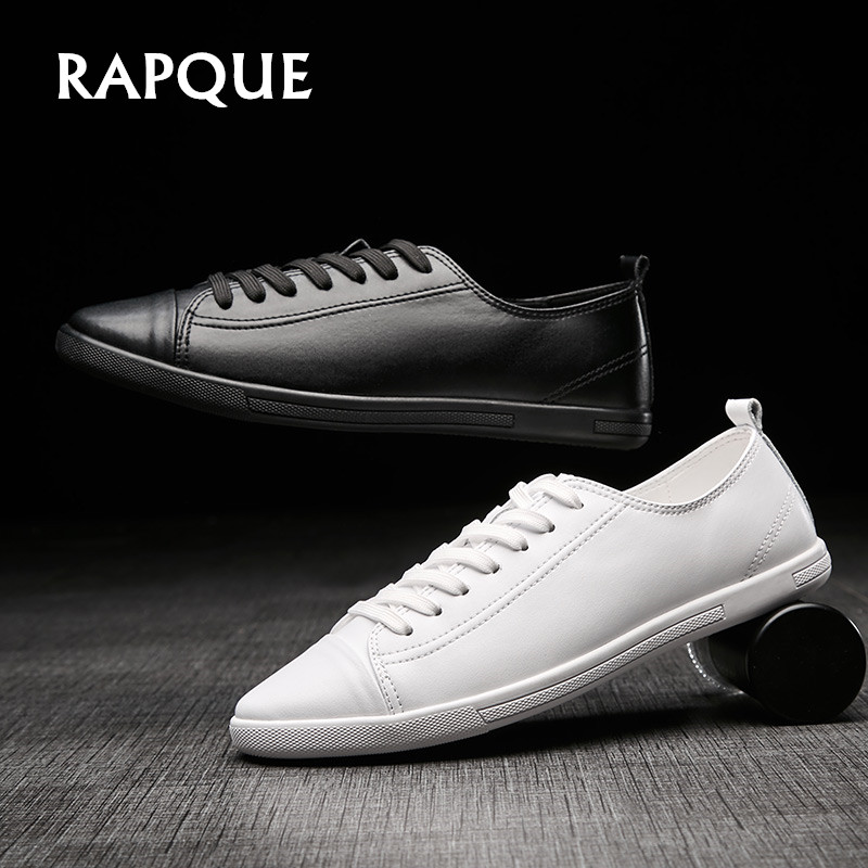 plus size men's genuine leather shoes summer Sneakers fashion loafers male leather casual driving shoes Walking top quality