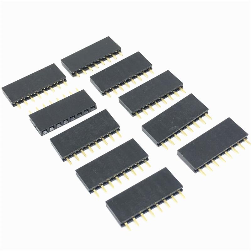 20PCS 1x8 Single Row 8 pins Carte De Circuit Imprimé Socket Female header 2.54 mm