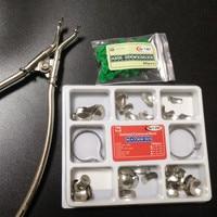 40Pcs Add On Wedge 100Pcs Set Dental Sectional Contoured Matrices Matrix Ring Delta Dentist Forceps Matrix