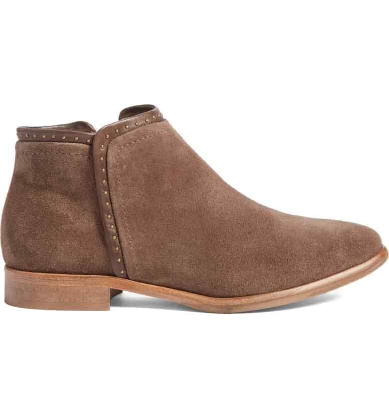 XingDeng bayanlar İngiltere ayak bileği batı bahar sonbahar çizmeler ayakkabı 34-43 kadın nubuk perçinler düz kare topuklu Martin çizmeler ayakkabı