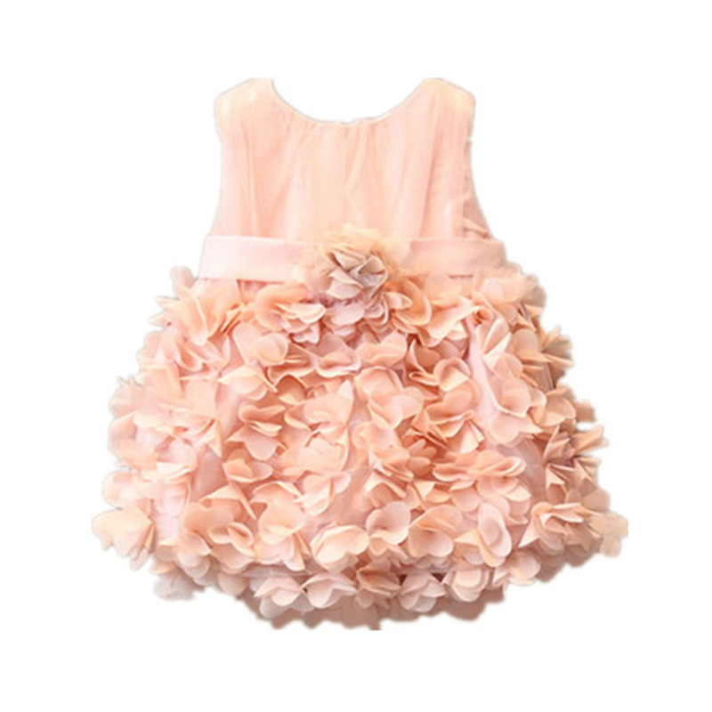 BBWOWLIN Newborn Baby Girls Dress Pink Princess Dresses for 0-6T Little Baby Flower Girl Dressees Birthday Party Christmas 80240
