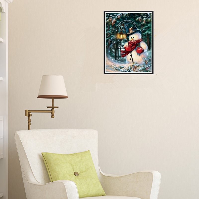 Beautiful Diamond Painting Cross Stitch Kits Snowman Winter Christmas Angel Three Cats Baby Room Living Room Home Hotel Office Shop Deco Home & Garden Diamond Painting Cross Stitch