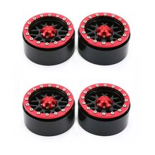 2Pairs Alloy 1.9 CNC Beadlock Wheels Rims for 1/10 RC Crawler Axial SCX10 SCX10 II 90046 Traxxas TRX4 D90 dc 2 2inch high quality 6061 alloy cnc wheel rim for 1 10 rc crawler car traxxas trx4 ford bronco rc4wd d90 axial scx10 90046