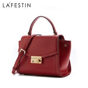 Image 3 - ラ festin 高級デザイナーハンドバッグ 2018 新牛革ハンドバッグショルダーバッグメッセンジャーバッグ女性ボルサの feminina