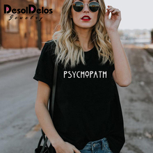 Factory Sellers American Horror Story Tee Unisex PSYCHO T Shirt Fashion PSYCHOPATH T-Shirt Casual Cotton Funny Women Men