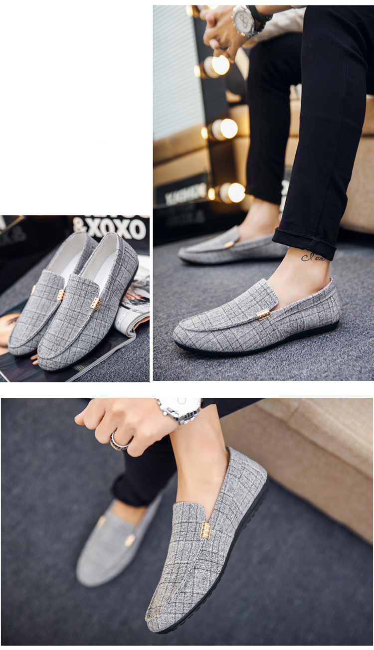 HTB1kLy.X5nrK1Rjy1Xcq6yeDVXab Men Casual Shoes Spring Summer Men Loafers New Slip On Light Canvas Youth Men Shoes Breathable Fashion Flat Footwear