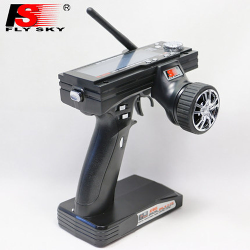 1 Piece Flysky FS-GT3B FS GT3B 2.4G 3CH Gun Remote Control System Transmitter with Receiver For RC Car Boat with LED Screen fs gt3b 2 4g 3ch rc system transmitter with receiver for rc car boat with lcd screen no batteries