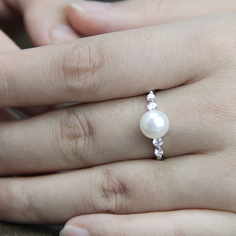 classic fashion cheap engagement rings for womenfreshwater real pearl ringopen class rings for best friend in rings from jewelry accessories on - Cheap Real Wedding Rings