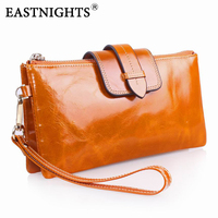 genuine leather wallets for women clutch purse women leather oil wax leather bags designer brand clutch with chain 2069