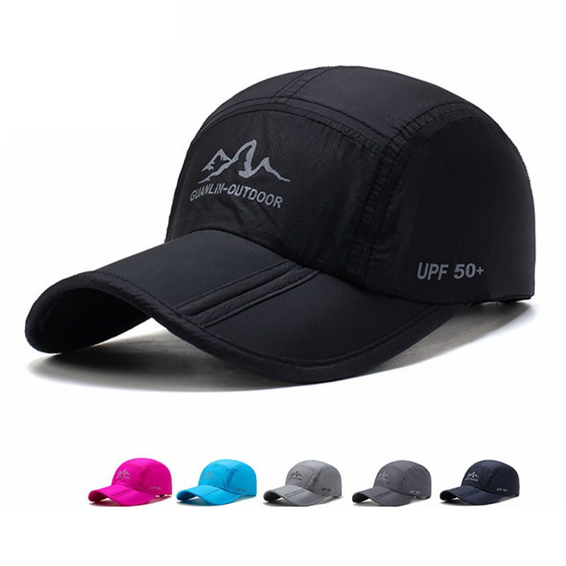 Hot Mesh Cap Men Women Folding Sunshade Quick Dry Breathable Waterproof Adjustable Hats Sportswear Outdoor