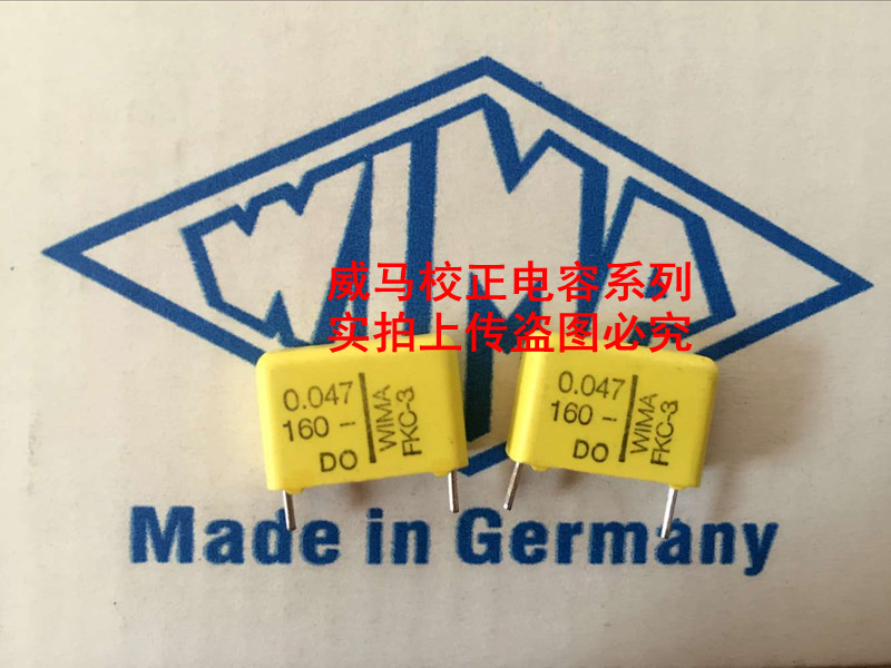 2019 hot sale 10pcs 20pcs WIMA capacitor FKC3 160V 0 047UF 160V 473 47NF P 15mm Audio capacitor free shipping in Capacitors from Electronic Components Supplies