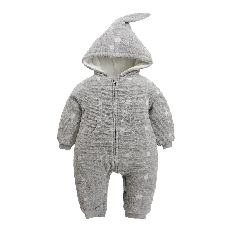 Baby Winter Thick Cashmere Rompers Baby Boys Baby Girls Thick Cotton Romper Kids Full Hooded Newborn Jumpsuit 2017 newborn baby rompers baby clothing 100% cotton infant jumpsuit ropa bebe long sleeve girl boys rompers costumes baby romper