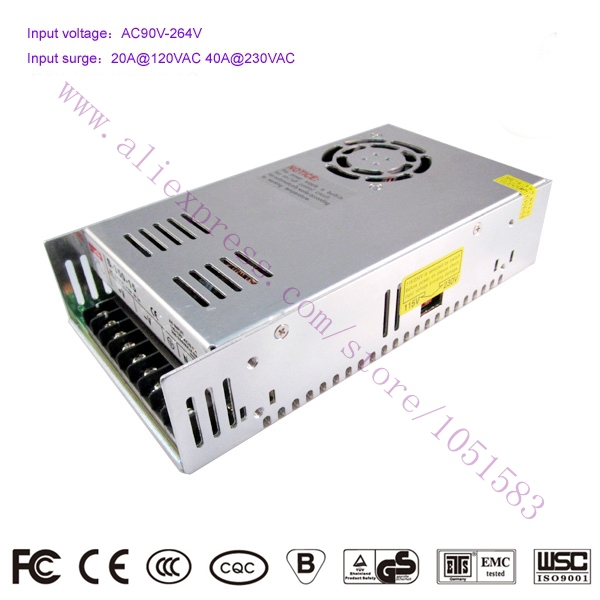 ФОТО 350W 12V 29A S-350-12 AC/DC Switching Standard LED/3d printer Power Supply CE RoHS authentication Free Shipping