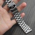 20 мм 22 мм твердое звено наручные часы ремешок Браслет Из Нержавеющей Стали Заменить для мужчин t мужчин новый складной застежка серебро