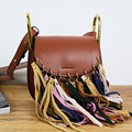 2017 Fashion Small Tassel Bag Women Bags Female Casual PU Leather Fringe Saddle Crossbody Messenger Shoulder Bag Bolsa Feminina