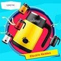 220 В/600 Вт 0.5л супер мини электрический чайник A must for overseas travel light Tea pot корпус из нержавеющей стали 3 зубчатая передача для малышей DK342